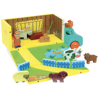 Vilac Wooden Farm Set in Truck - Grace Baby