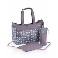 Okiedog Metro Messenger Lightweight Travel Nappy Bag - Damask Blue