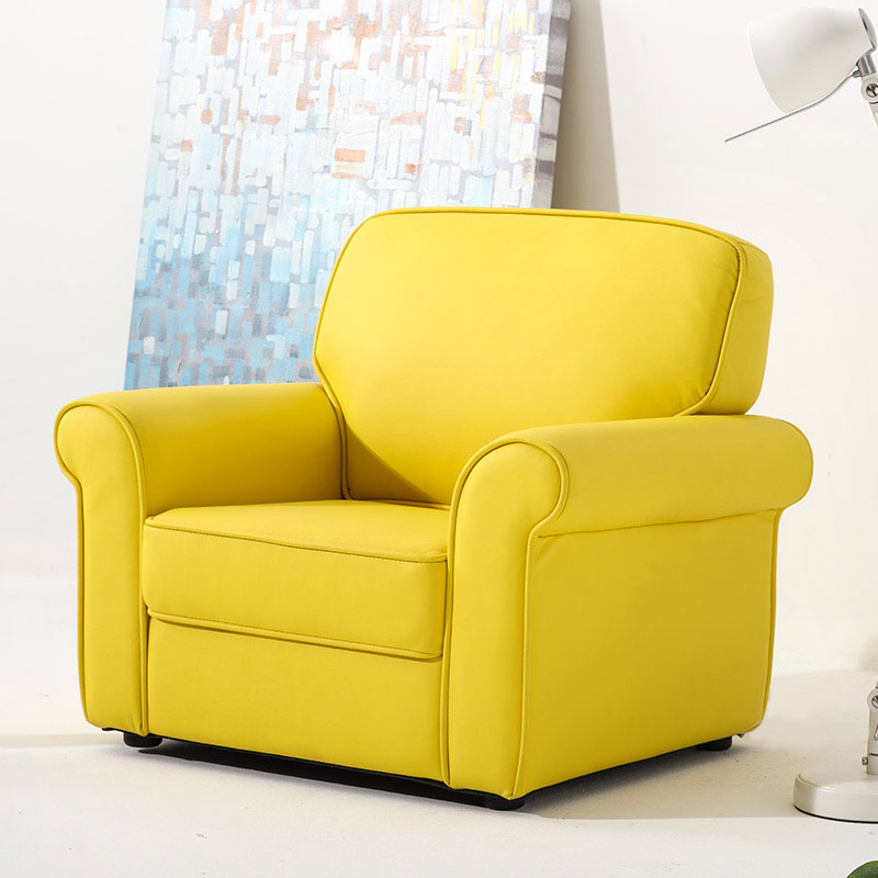 Sophia Kids PU Leather Armchair Sofa - Yellow - Grace Baby