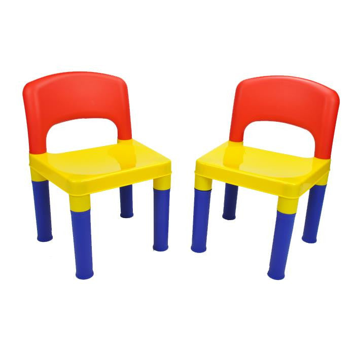 New 2x Children Kids Multicolour Sturdy Play Activity Chairs Gift Set - Grace Baby