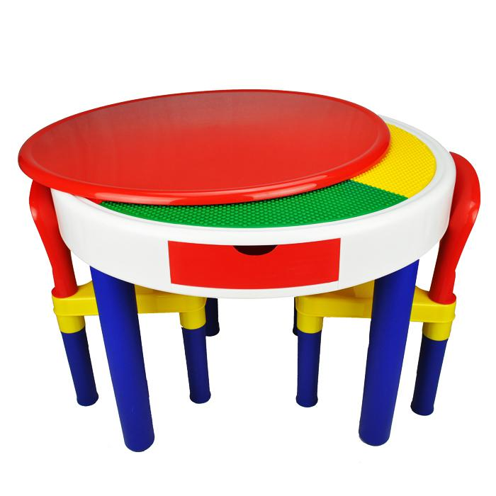 2-in-1 Round Activity Table & Chair Set