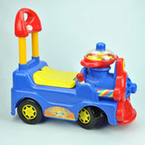Locomotive Ride-On Car - Blue - Grace Baby