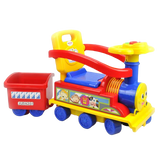 Toddler Kids Choo Choo Ride-On Train Toy with Trailer - Red