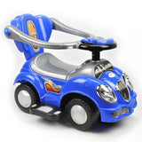 Kids Toddler Ride-On Toy Car with Push Bar - Blue