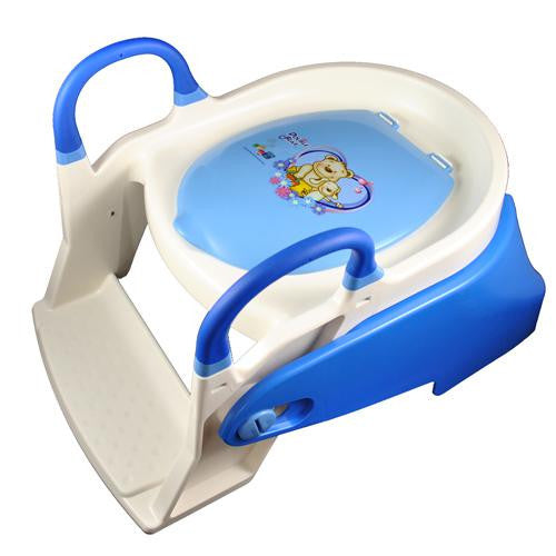 Double Bear 2 Stage Toilet Trainer Potty Seat - Blue - Grace Baby