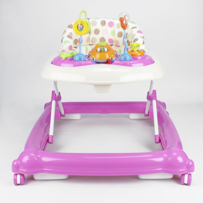 Baby Walker Play Activity Centre - Pink - Grace Baby