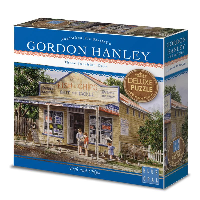 Blue Opal Gordon Hanley Fish and Chips Jigsaw Puzzle 1000pc - Grace Baby