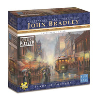 Blue Opal - John Bradley Trams in Gaslight 1000pc Jigsaw Puzzle