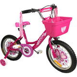 "Supermax Girls 16"" Push Kids Bike with Training Wheels Pink - Grace Baby"