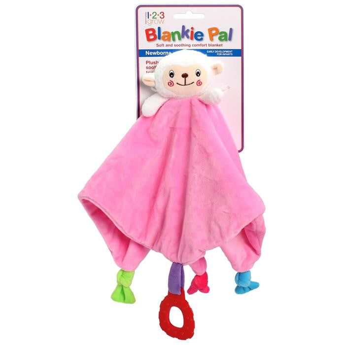 123 Grow Blankie Pal - Lamb - Pink - Grace Baby