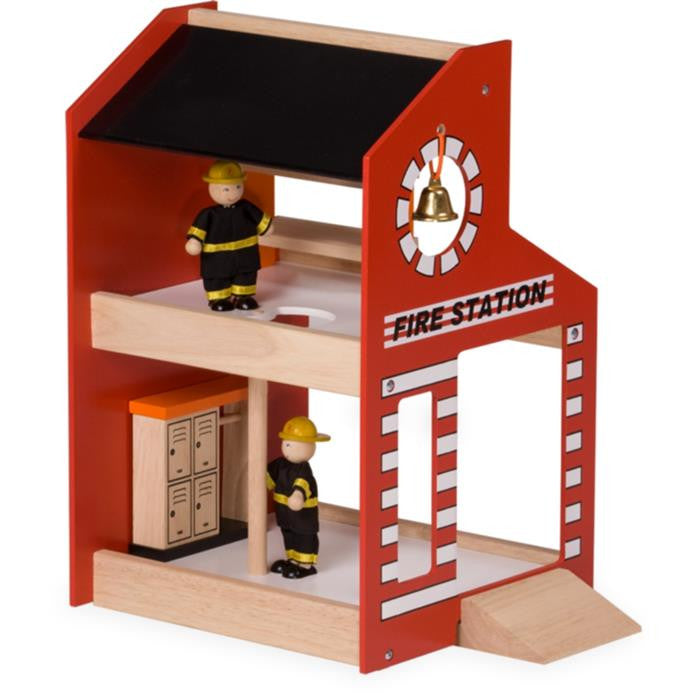 Blue Ribbon Wooden Toy - Fire Station - Grace Baby