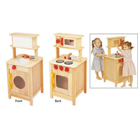 Blue Ribbon Wooden Toy Kitchen Centre - Natural - Grace Baby