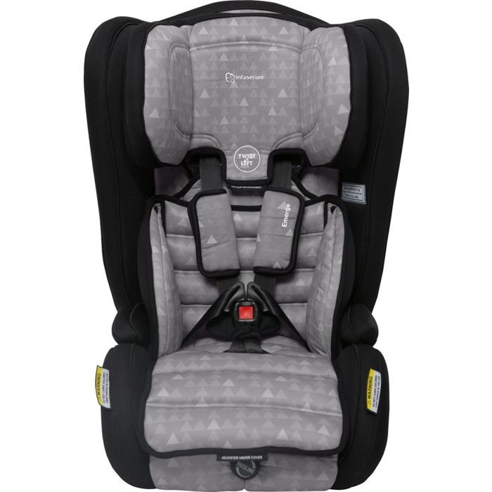 Infa Secure Emerge Treo Harnessed Booster Seat - Grey - Grace Baby