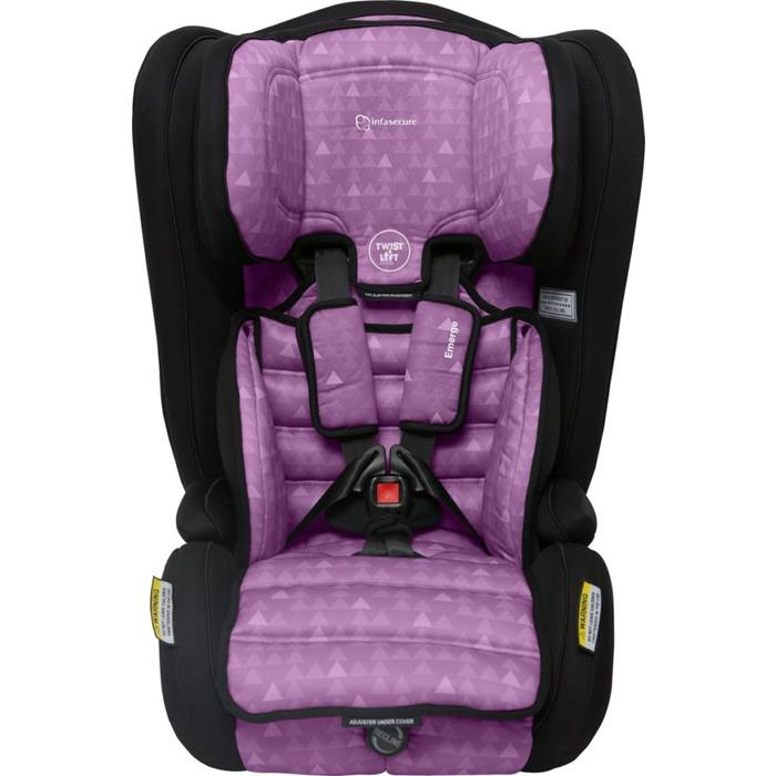 Infa Secure Emerge Treo Harnessed Booster Seat - Purple - Grace Baby