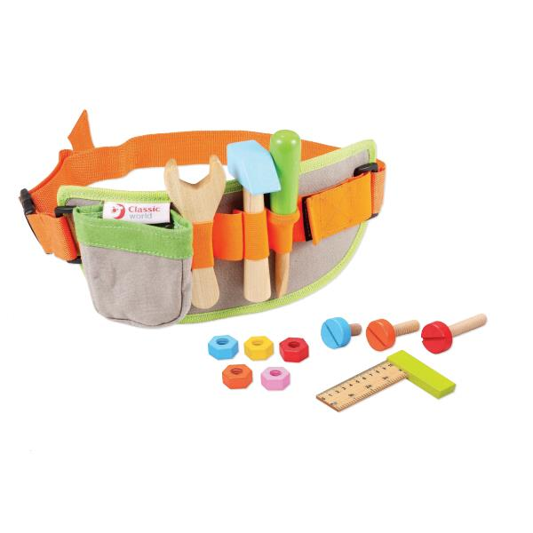 Classic World - Wooden Pretend Play Toy - Tool Belt - Grace Baby