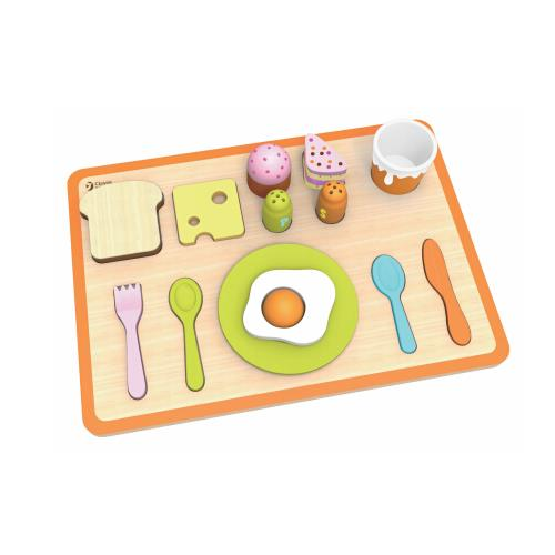 Classic World - Wooden Pretend Play Toy - Breakfast Tray - Grace Baby