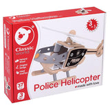 Classic World - Police Helicopter Building Set - Grace Baby