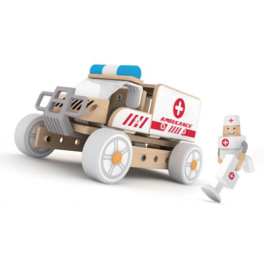 Classic World - Ambulance Building Set - Grace Baby
