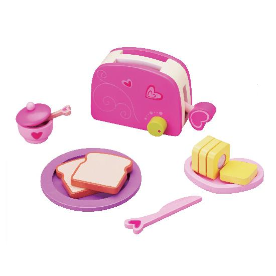 Classic World - Wooden Pretend Play Toy - Toaster Set - Grace Baby