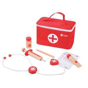 Classic World - Wooden Pretend Play Toy - Doctors Set and Case