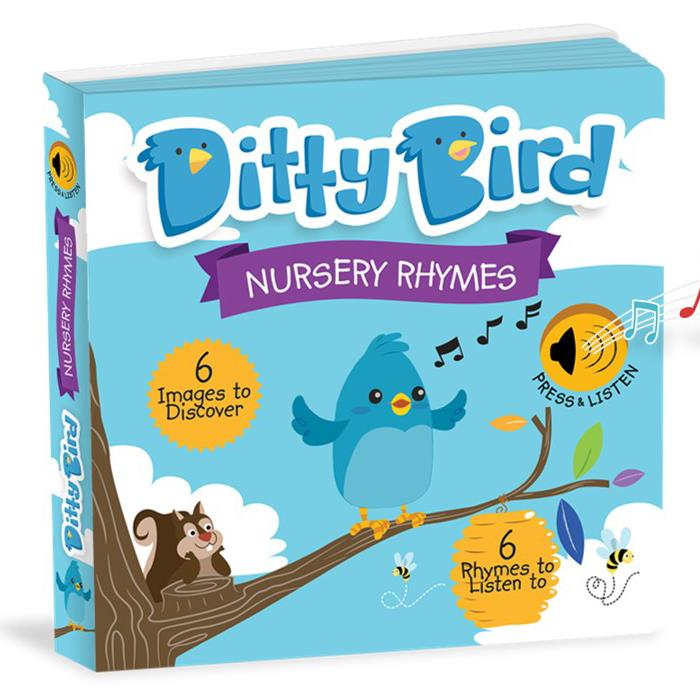 Ditty Bird Interactive Musical Book - Nursery Rhymes - Grace Baby
