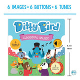 Ditty Bird Interactive Musical Book - Classical Music - Grace Baby