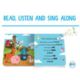 Ditty Bird Interactive Musical Book - Farm Animal - Grace Baby