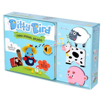 Ditty Bird Interactive Musical Book Gift Set - Farm Animals - Grace Baby