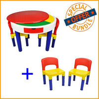 Package Deal - Round Building Block Activity Table & 4 Chairs - Grace Baby