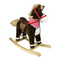 Fabric Rocking Horse with Saddle - Spirit - Grace Baby