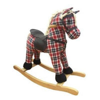 Fabric Rocking Horse with Saddle - Ascot - Grace Baby