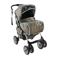Aussie Baby Reverse Handle Pram - Blue