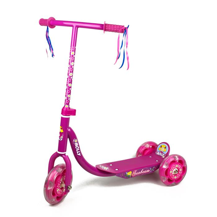 Girls Hot Pink 3 Wheel Scooter - Grace Baby