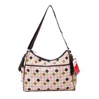 Bellotte Hobo Nappy Bag - Pink Circles - Grace Baby