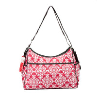 Bellotte Hobo Nappy Bag - Red Ethnic - Grace Baby