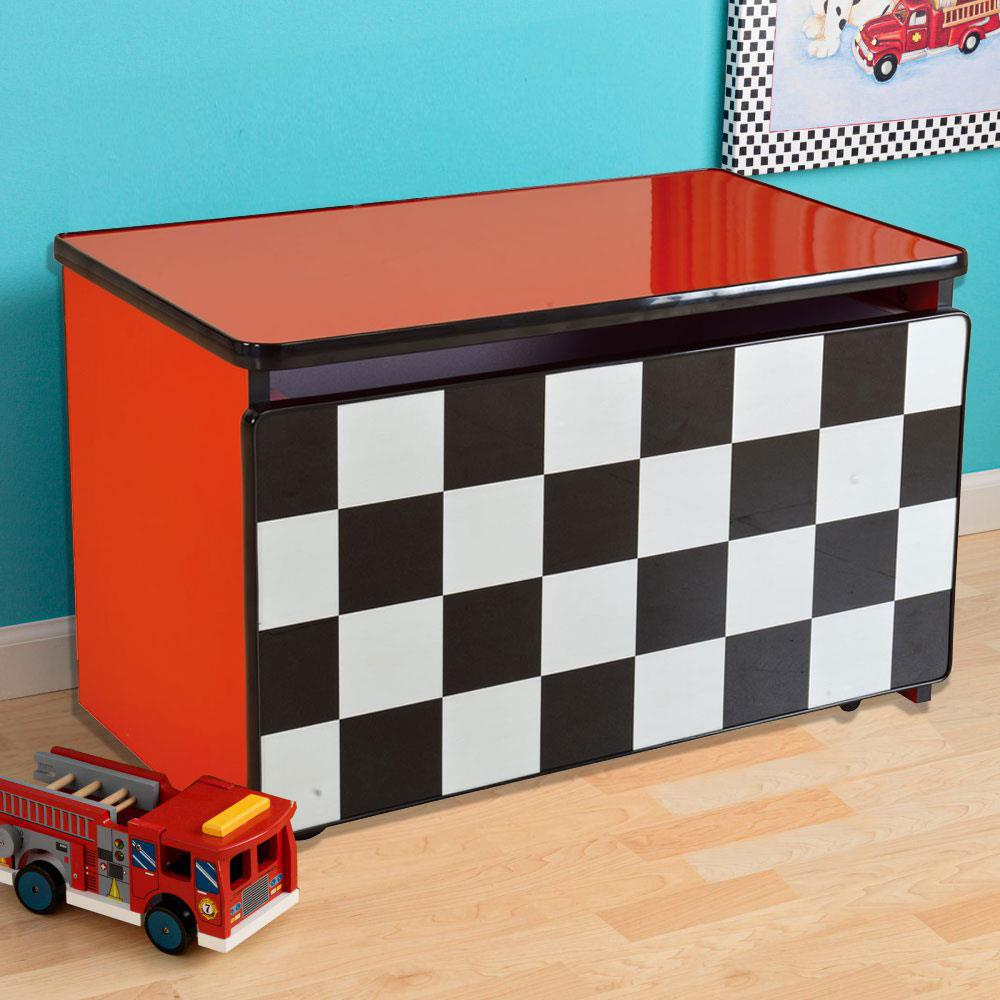 Kids Supreme Energy Theme Toy Storage Box Cabinet - Red