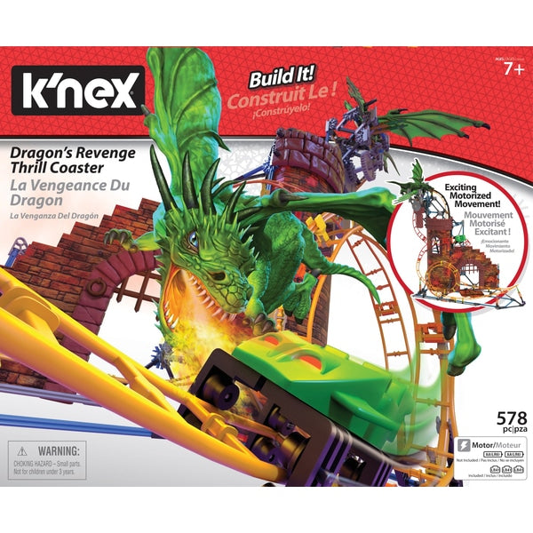 K'Nex Thrill Rides - Dragon Revenge Roller Coaster - Ride It