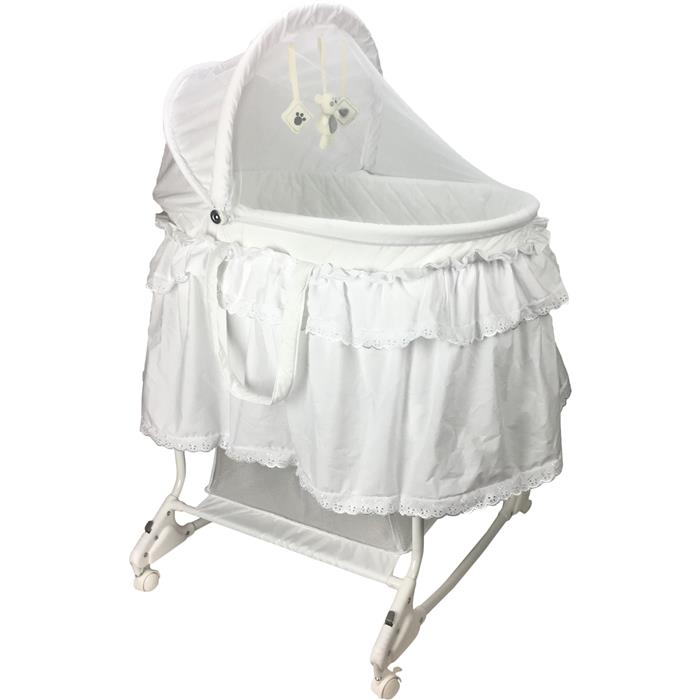 Aussie Baby Deluxe Rocking Bassinet - White - Grace Baby