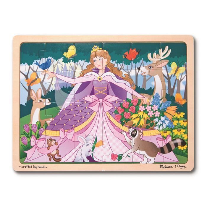 Melissa & Doug - Woodland Princess Jigsaw Puzzle - 24pc - Grace Baby