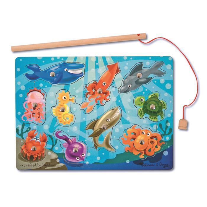 Melissa & Doug - 10 Pieces Magnetic Fishing Game - Grace Baby