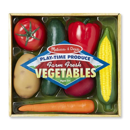 Melissa & Doug - Play Time Vegetables 7 Pieces - Grace Baby