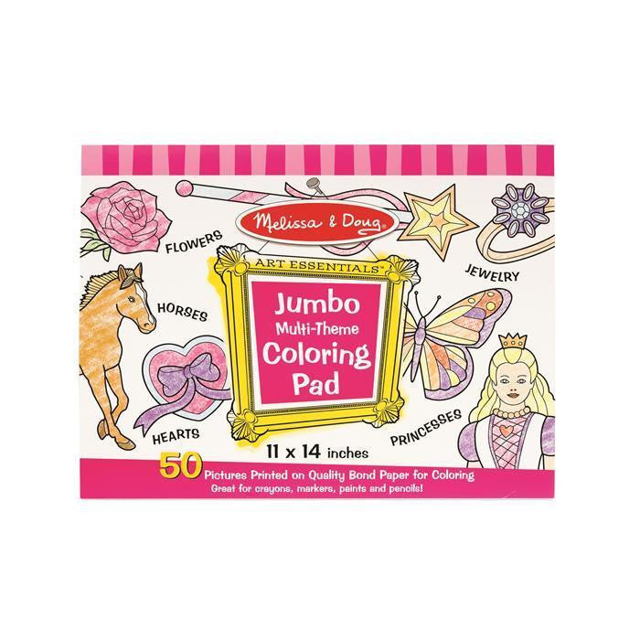 Jumbo Coloring Pad New By Melissa & Doug Multi-Theme TV & Movie Character  Toys Toys & Hobbies