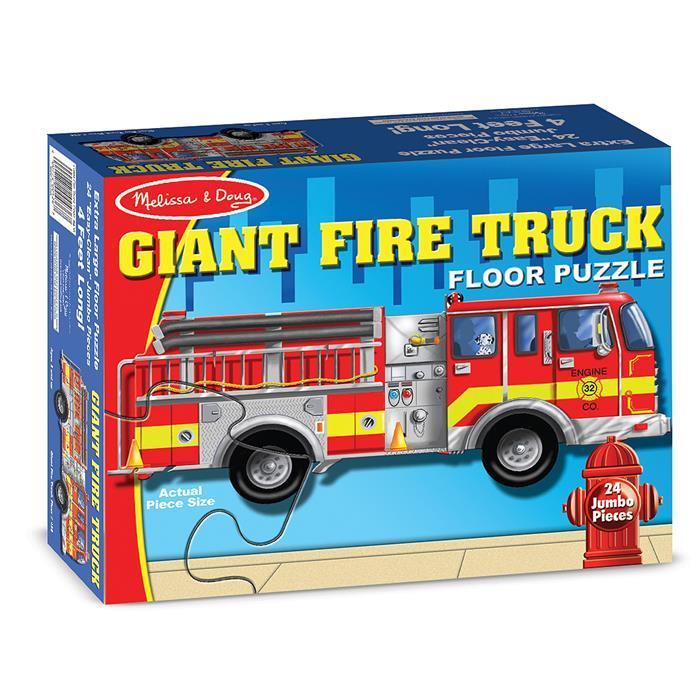 Melissa & Doug - Giant Fire Truck Floor Puzzle 24pc - Grace Baby