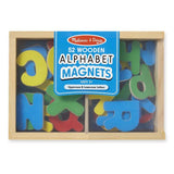 Melissa & Doug Classic Toy - Wooden Letter Alphabet Magnets - Grace Baby