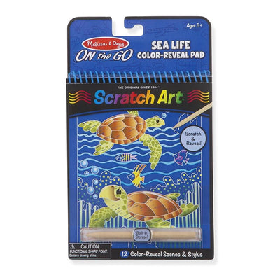 Melissa & Doug - On The Go - Scratch Art - Sealife