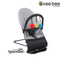 Vee Bee Baby Minder Bouncer - Flex Grey