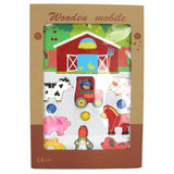 Kaper Kidz - Wooden Farm Mobile - Grace Baby
