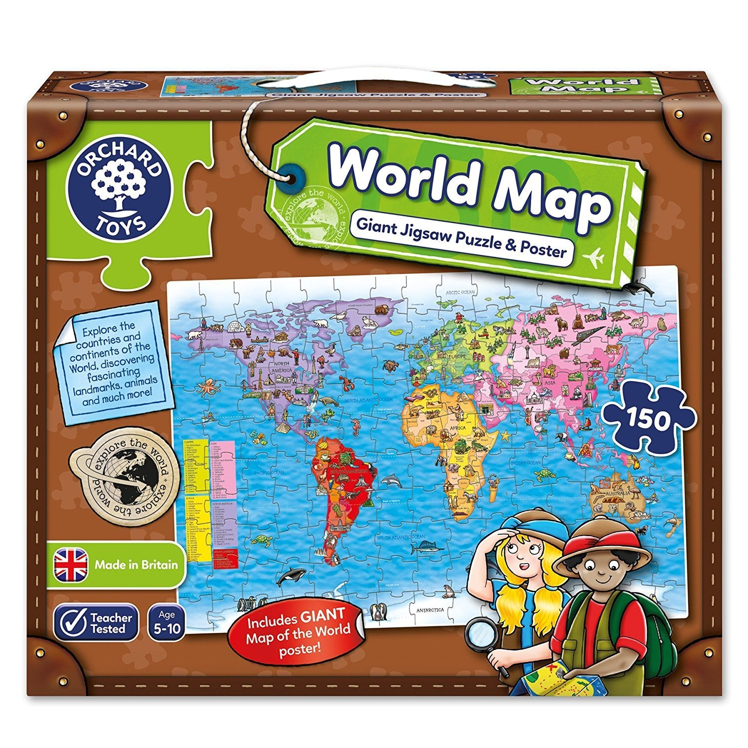 Orchard Jigsaw - World Map Puzzle & Poster 150pc   Grace Baby on persecuted church world map, remnant world map, pillars world map, birthright world map, zen world map, thera world map, christian persecution world map, evil world map, divinity world map, golden horn world map, sanctuary world map, sarai world map, alo world map, sunni world map, opal world map, zara world map, imagination world map, elmina world map, solomon world map, galilee world map,