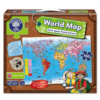 Orchard Jigsaw - World Map Puzzle & Poster 150pc