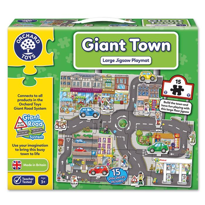 Orchard Toys - Giant Town Jigsaw (15 pieces) - Grace Baby